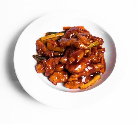 17 Свинина в кисло-солодкому соусі Тан-цу