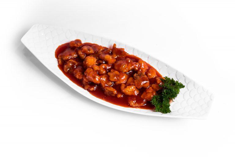 69 Риба смажена у кисло-солодкому соусі Тан-цу
